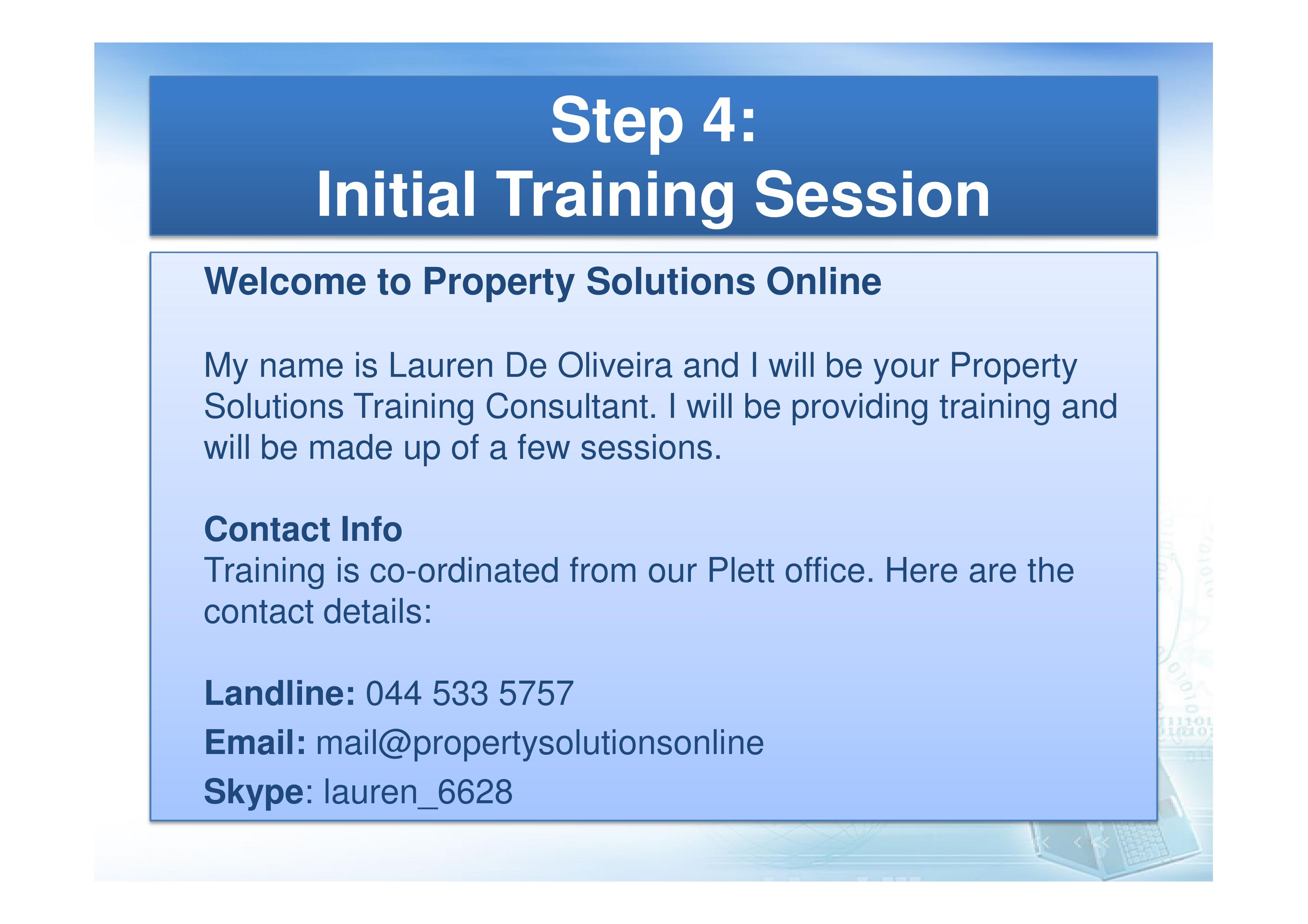 Welcome to Property Solutions Online.