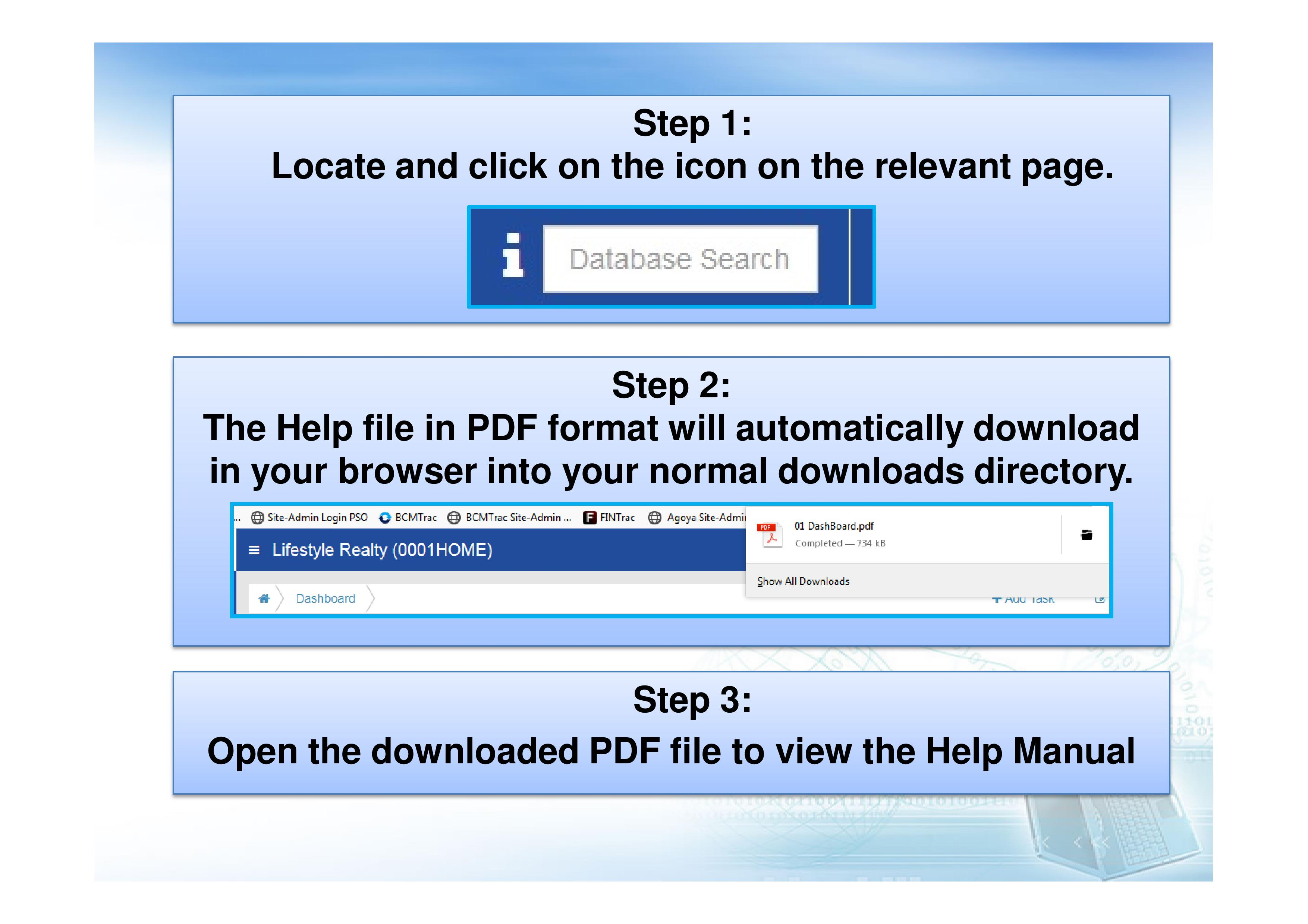 How to access the Online Help Manual?